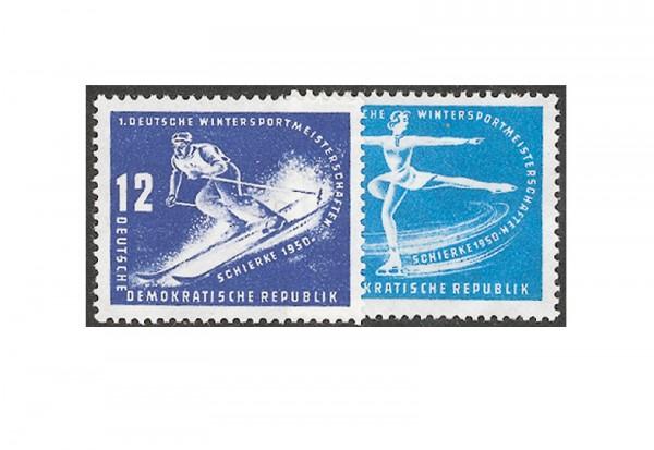 Briefmarke DDR Wintersportmeisterschaften 1950 Michel-Nr. 246-247 postfrisch