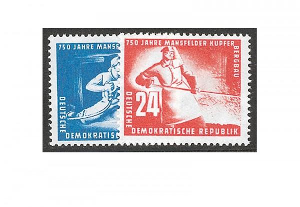 Briefmarken DDR 750 Jahre Mansfelder Kupferbergbau 1950 Michel-Nr.273-274 postfrisch