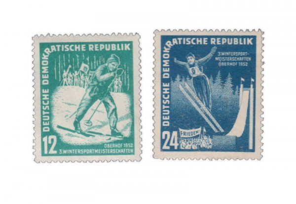 DDR Michel Nr.298-299 ** Oberhofer Wintersportspiele 1952