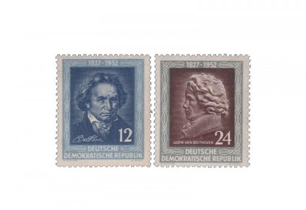 DDR Michel Nr. 300 -301 1952 ** 125 Todestag von Beethoven