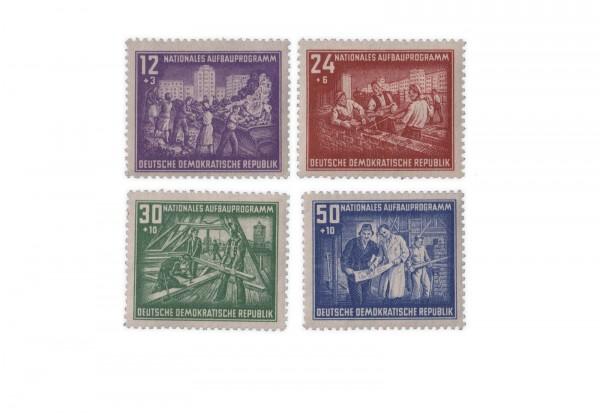 Briefmarken DDR Nationales Aufbauprogramm Berlin 1952 Michel-Nr. 303-306 postfrisch