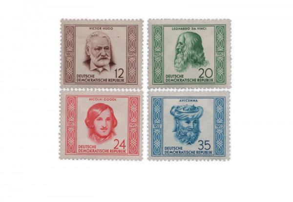 Briefmarken DDR Berühmte Persönlichkeiten 1952 Michel-Nr. 311-314 postfrisch