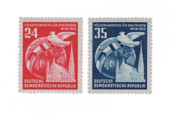 Briefmarken DDR Völkerkongress für den Frieden 1952 Michel-Nr. 320-321 postfrisch