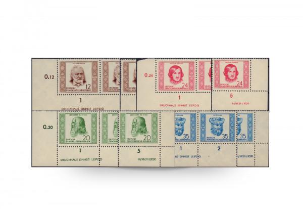 Briefmarken DDR Berühmte Persönlichkeiten 1952 Michel-Nr. 311/14 DV+DZ postfrisch