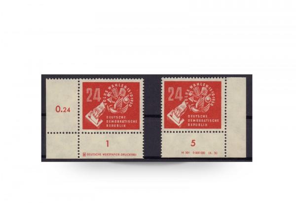 Briefmarken Volkswahlen 1950 DDR 1950 Michel-Nr. 275 DV+DZ postfrisch