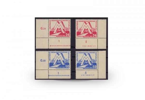 Briefmarken Frühjahrsmesse DDR 1951 Michel-Nr. 282-283 DV+DZ postfrisch