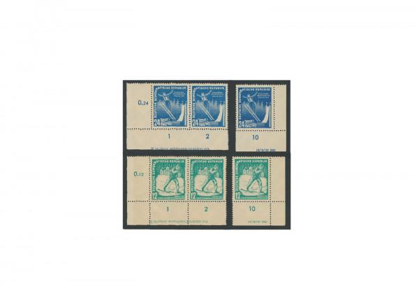 Briefmarken DDR Wintersportmeisterschaften Oberhof 1952 Michel-Nr. 298/9 postfrisch DV+DZ