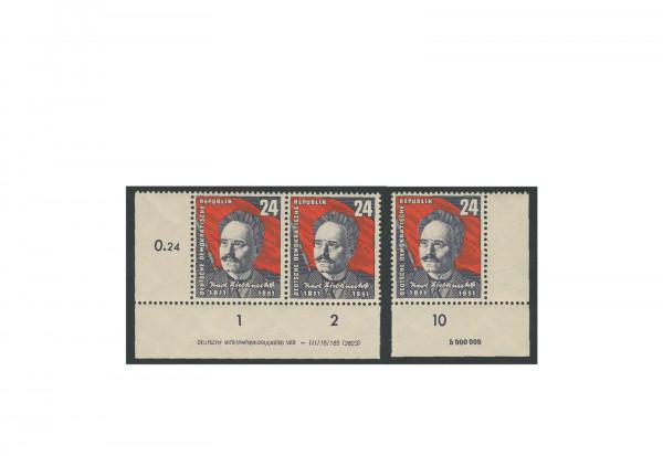 Briefmarken DDR 80. Geburtstag Karl Liebknecht 1951 Michel-Nr. 294 postfrisch DV+DZ