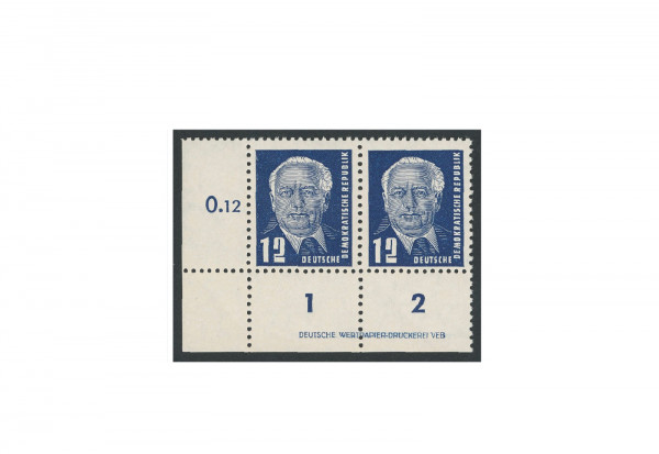 Briefmarken DDR Pieck II 1952 Michel-Nr. 323 DV postfrisch