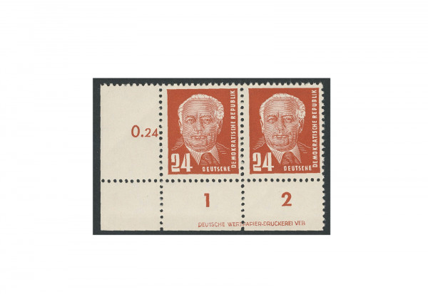 Briefmarken DDR Pieck II 1952 Michel-Nr. 324 DV postfrisch