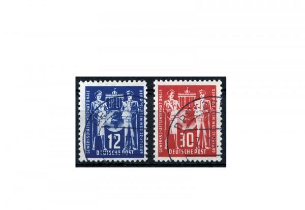 Briefmarke DDR Gründungskonferenz Post 1949 Michel-Nr. 243-244 gestempelt