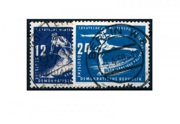 Briefmarken DDR Erste Wintersportmeisterschaften 1950 Michel-Nr. 246-247 gestempelt