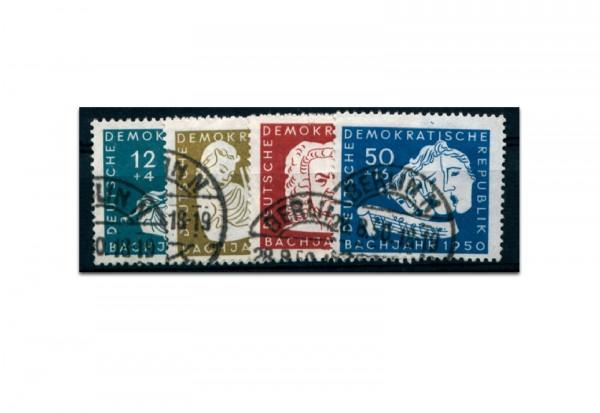 Briefmarken DDR 200. Todestag von Johann Sebastian Bach 1950 Michel-Nr. 256-259 gestempelt