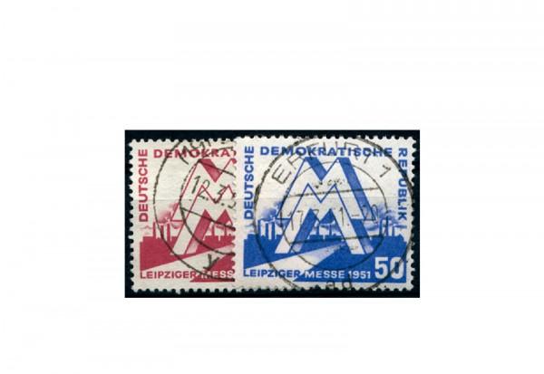Briefmarke DDR Leipziger Frühjahrsmesse 1951 Michel-Nr. 282-283 gestempelt