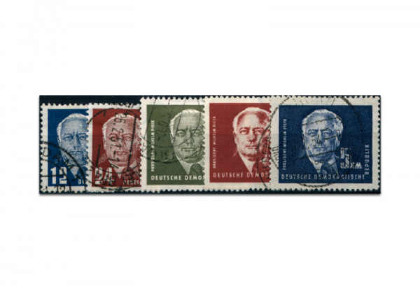Briefmarken DDR Präsident Wilhelm Pieck (I) 1950 Michel-Nr. 251-255 gestempelt
