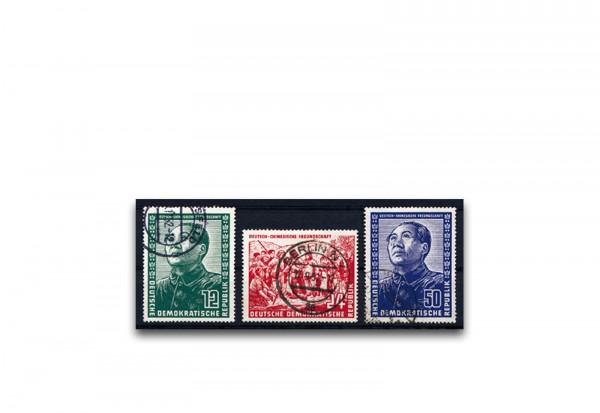 Briefmarken DDR Deutsch-chinesische Freundschaft 1951 Michel-Nr. 286-288 gestempelt
