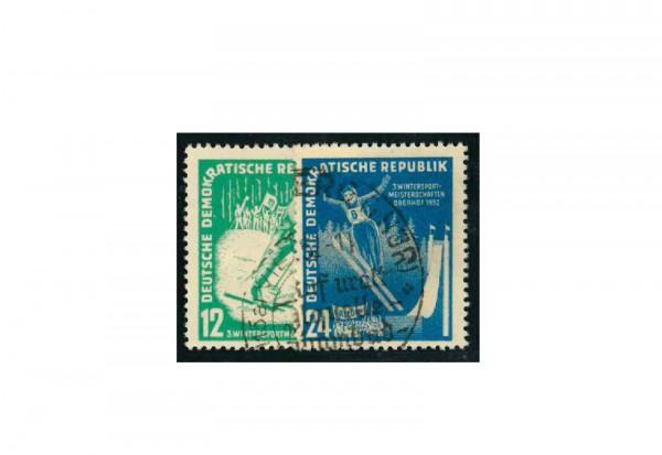 Briefmarken DDR Wintersportmeisterschaften Oberhof 1952 Michel-Nr. 298-299 gestempelt