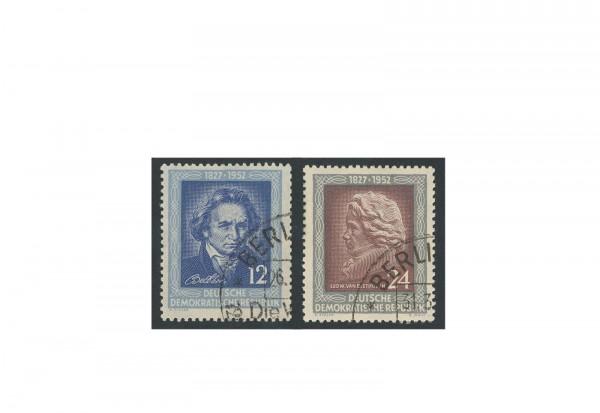 Briefmarken DDR 125. Todestag von Ludwig van Beethoven 1952 Michel-Nr. 300-301 gestempelt