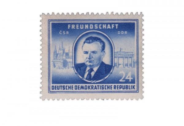 Briefmarke DDR Staatsbesuch von Klement Gottwald 1952 Michel-Nr. 302 gestempelt