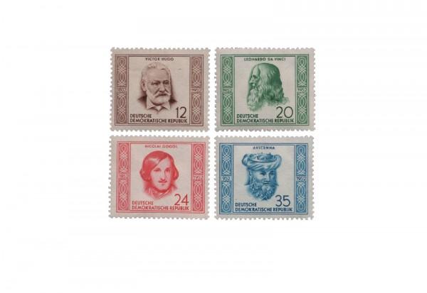 Briefmarken DDR Berühmte Persönlichkeiten 1952 Michel-Nr. 311-314 gestempelt