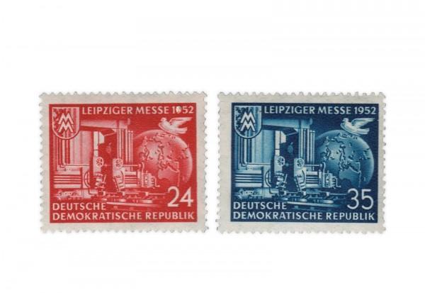 DDR Michel Nr. 315/6 gestempelt Leipziger Herbstmesse 1952