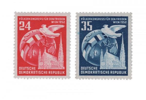 DDR Michel Nr. 320/1 gestempelt Völkerkongress für den Frieden