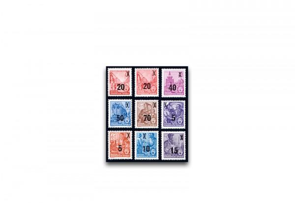 Briefmarken DDR Freimarken Fünfjahrplan 1954 Michel-Nr. 435-442 postfrisch