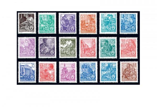 Briefmarken DDR Fünfjahrplan 1957 Michel-Nr. 405-422 postfrisch