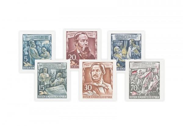 Briefmarken DDR Block 60. Todestag von Friedrich Engels 1955 Michel-Nr. 485-490 postfrisch