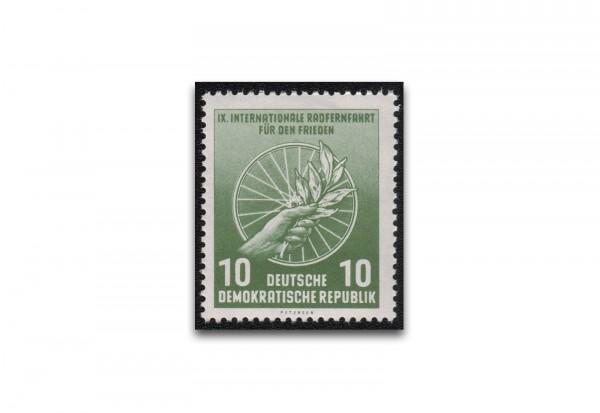 Briefmarke DDR Internationale Radfernfahrt für den Frieden 1956 Michel-Nr. 521 b postfrisch