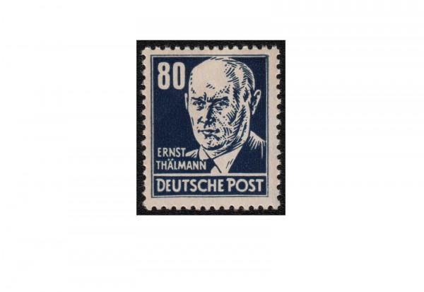 Briefmarke DDR Ernst Thälmann 1952 Michel-Nr. 339 xb postfrisch auf Lackpapier