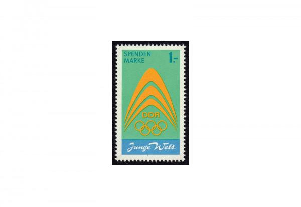 Briefmarke DDR Spendenmarke Junge Welt 1971 Michel-Nr. I postfrisch