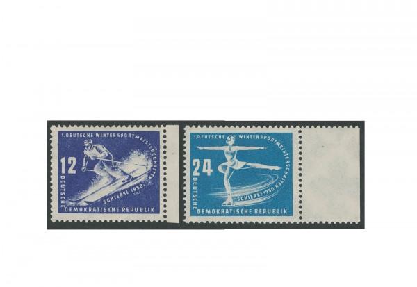 Briefmarken DDR Erste Wintersportmeisterschaften 1950 Michel-Nr. 246/7 postfrisch