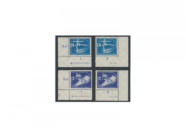 Briefmarken DDR Erste Wintersportmeisterschaften 1950 Michel-Nr. 246-247 DV+DZ postfrisch