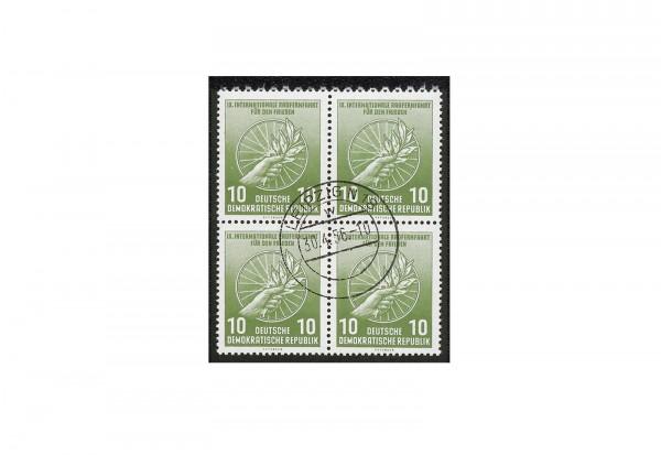 Briefmarken DDR Internationale Radfernfahrt 1956 Michel-Nr. 521 b gestempelt geprüft