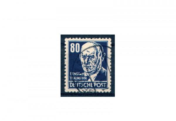 Briefmarke DDR Thälmann 1952 Michel-Nr. 339 xb gestempelt geprüft