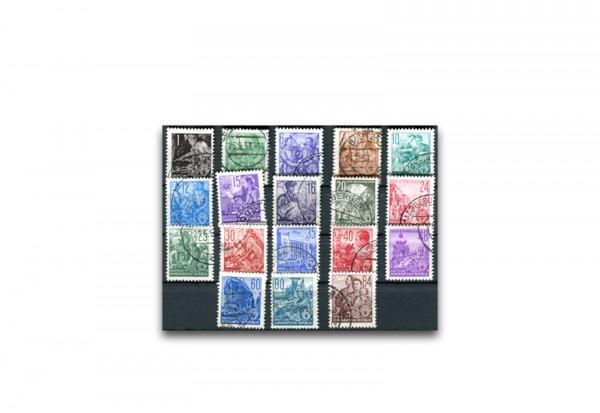 Briefmarken DDR Fünfjahrplan 1953 Michel-Nr. 362-379 gestempelt