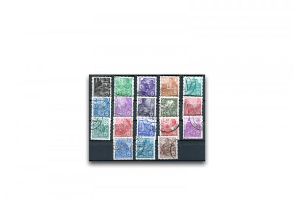 Briefmarken DDR Fünfjahrplan 1957 Michel-Nr. 405-422 gestempelt