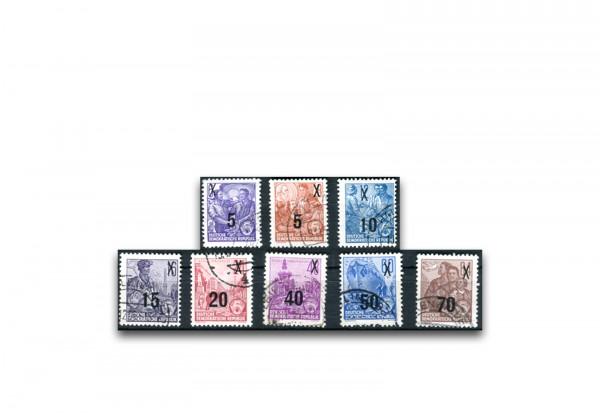 Briefmarken DDR Fünfjahrplan 1957 Michel-Nr. 435-442 gestempelt