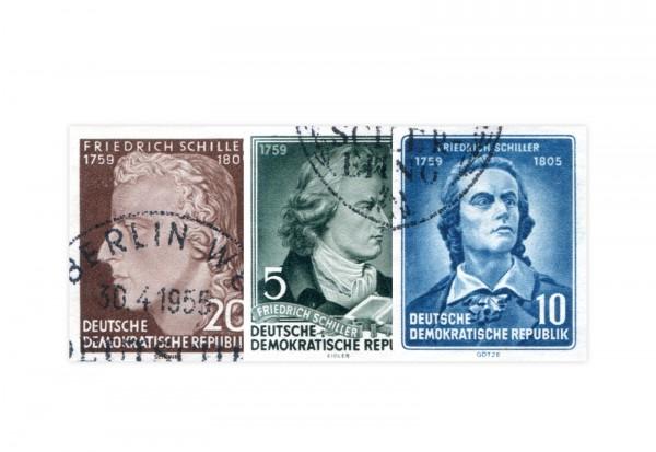 DDR Block 12 Einzelmarken Mi.Nr. 464/466 B gestempelt