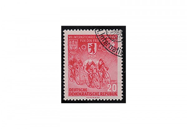 DDR Radfernfahrt 1955 Michel Nr. 471 Y I G gestempelt mit Fotoattest BPP