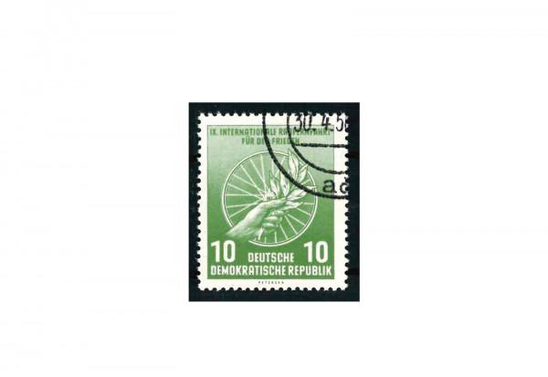 Briefmarke DDR Internationale Radfernfahrt Michel-Nr. 521 b gestempelt und geprüft