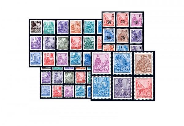 Briefmarken DDR Fünfjahrplan 1957 Michel-Nr. 362-479,405-422,435-442,453-458 postfrisch