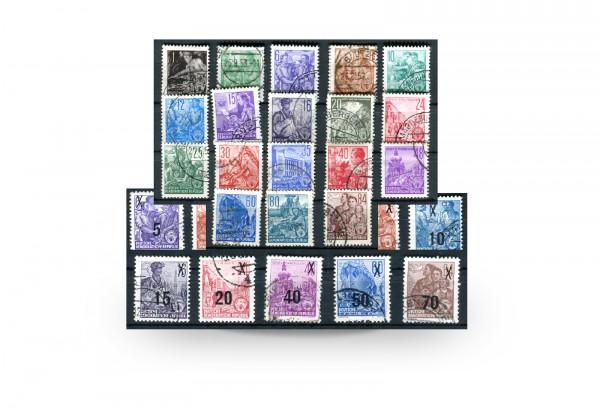 Briefmarken DDR Fünfjahrplan 1957 Michel-Nr. 362-379,405-422,435-442,453-458 gestempelt