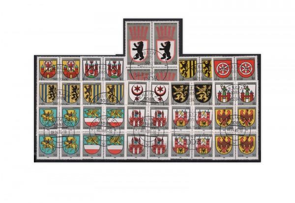 DDR Stadtwappen-Sammlung 15 Bezirke gestempelt