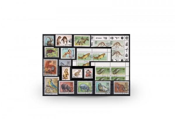 Briefmarken DDR Tier-Sammlung 10 komplette Ausgaben gestempelt