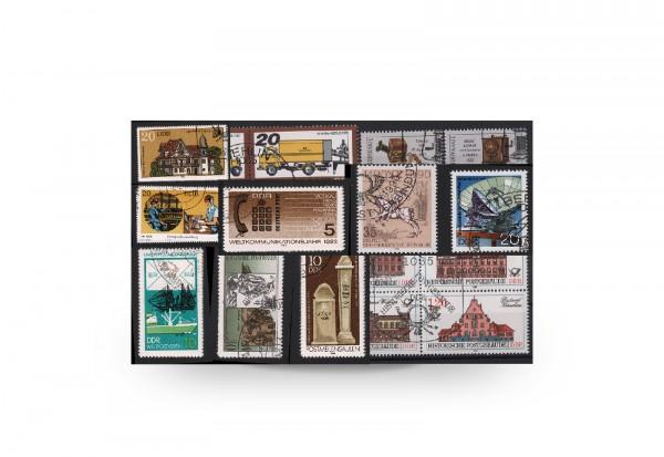 Briefmarken DDR Post und Fernmeldewesen 13 Ausgaben gestempelt