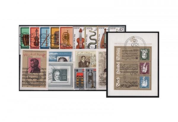 Briefmarken DDR Musik-Sammlung 9 komplette Ausgaben gestempelt