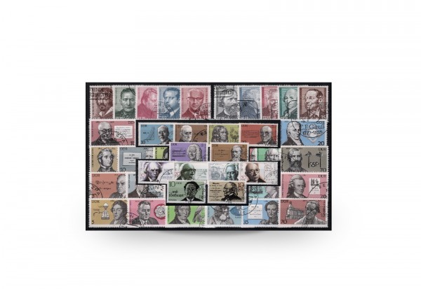 Briefmarken DD Bedeutende Persönlichkeiten 10 Ausgaben gestempelt
