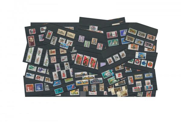 Briefmarken DDR 450 verschiedene Sondermarken auf 75 Steckkarten gestempelt